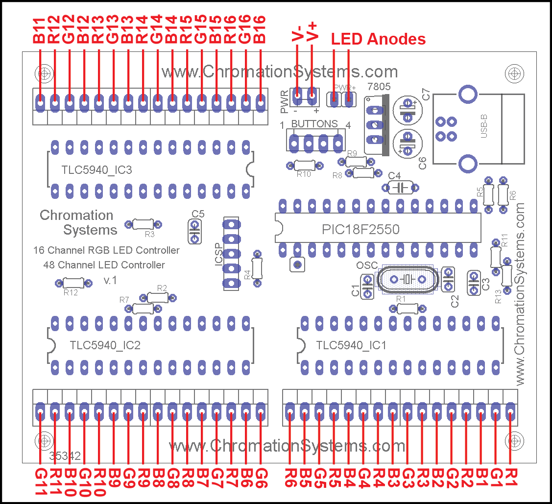 Chromation Systems 48 Channel Mon 16 Channel Rgb Led